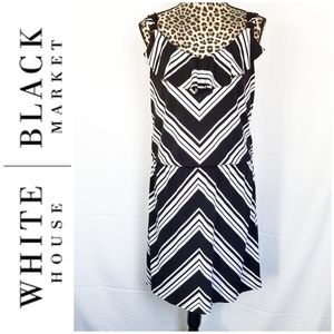 WHBM Black and White Summer Dress